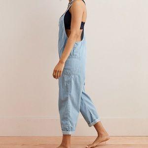 e53f6fa845ea aerie Pants - Aerie relaxed denim overalls